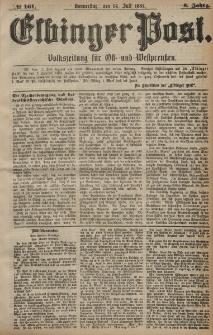 Elbinger Post, Nr. 161, Donnerstag 14 Juli 1881, 8 Jahrg.