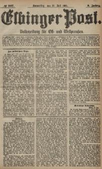 Elbinger Post, Nr. 167, Donnerstag 21 Juli 1881, 8 Jahrg.