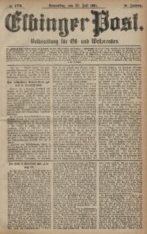 Elbinger Post, Nr. 173, Donnerstag 28 Juli 1881, 8 Jahrg.