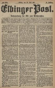 Elbinger Post, Nr. 174, Freitag 29 Juli 1881, 8 Jahrg.