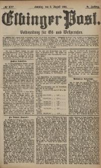 Elbinger Post, Nr. 177, Sonntag 2 August 1881, 8 Jahrg.