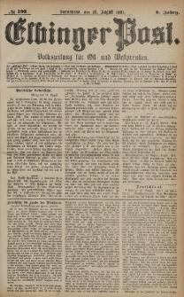 Elbinger Post, Nr. 193, Sonnabend 20 August 1881, 8 Jahrg.