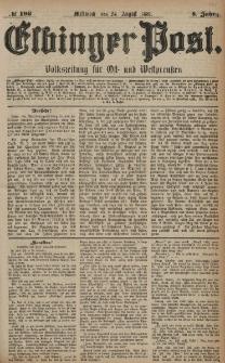 Elbinger Post, Nr. 196, Mittwoch 24 August 1881, 8 Jahrg.