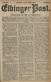 Elbinger Post, Nr. 197, Donnerstag 25 August 1881, 8 Jahrg.