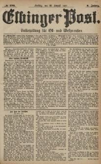 Elbinger Post, Nr. 198, Freitag 26 August 1881, 8 Jahrg.