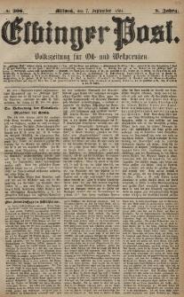 Elbinger Post, Nr. 208, Mittwoch 7 September 1881, 8 Jahrg.