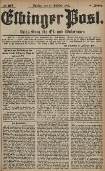 Elbinger Post, Nr. 237, Dienstag 11 Oktober 1881, 8 Jahrg.