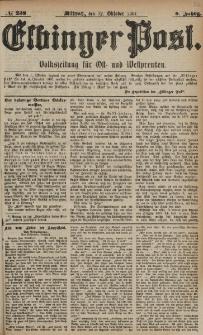 Elbinger Post, Nr. 238, Mittwoch 12 Oktober 1881, 8 Jahrg.