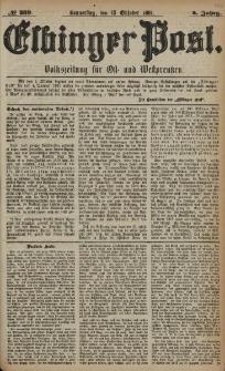 Elbinger Post, Nr. 239, Donnerstag 13 Oktober 1881, 8 Jahrg.
