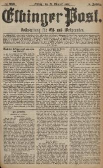 Elbinger Post, Nr. 246, Freitag 21 Oktober 1881, 8 Jahrg.