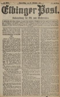 Elbinger Post, Nr. 251, Donnerstag 27 Oktober 1881, 8 Jahrg.