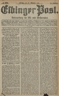Elbinger Post, Nr. 252, Freitag 28 Oktober 1881, 8 Jahrg.