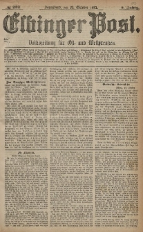 Elbinger Post, Nr. 253, Sonnabend 29 Oktober 1881, 8 Jahrg.