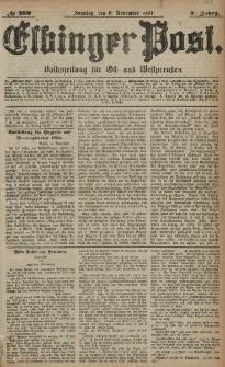 Elbinger Post, Nr. 260, Sonntag 6 November 1881, 8 Jahrg.