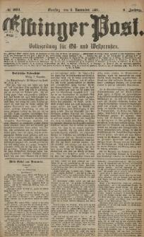 Elbinger Post, Nr. 261, Dienstag 8 November 1881, 8 Jahrg.
