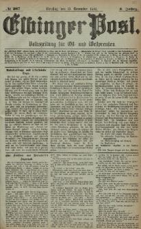Elbinger Post, Nr. 267, Dienstag 15 November 1881, 8 Jahrg.