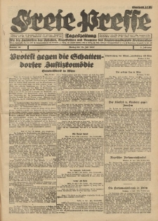 Freie Presse, Nr. 82 Montag 18. Juli 1927 3. Jahrgang