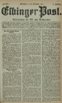 Elbinger Post, Nr. 274, Mittwoch 23 November 1881, 8 Jahrg.