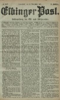 Elbinger Post, Nr. 277, Sonnabend 26 November 1881, 8 Jahrg.