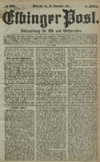 Elbinger Post, Nr. 280, Mittwoch 30 November 1881, 8 Jahrg.