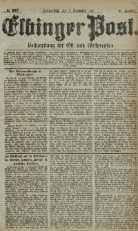 Elbinger Post, Nr. 287, Donnerstag 8 Dezember 1881, 8 Jahrg.