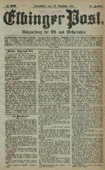 Elbinger Post, Nr. 289, Sonnabend 10 Dezember 1881, 8 Jahrg.