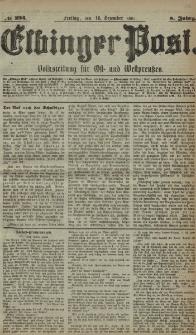 Elbinger Post, Nr. 294, Freitag 16 Dezember 1881, 8 Jahrg.
