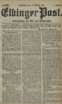 Elbinger Post, Nr. 295, Sonnabend 17 Dezember 1881, 8 Jahrg.