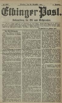 Elbinger Post, Nr. 297, Dienstag 20 Dezember 1881, 8 Jahrg.