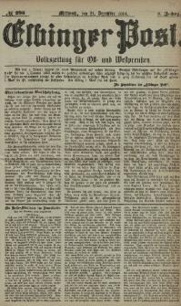 Elbinger Post, Nr. 298, Mittwoch 21 Dezember 1881, 8 Jahrg.