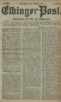 Elbinger Post, Nr. 299, Donnerstag 22 Dezember 1881, 8 Jahrg.