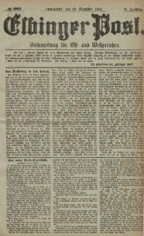 Elbinger Post, Nr. 301, Sonnabend 24 Dezember 1881, 8 Jahrg.