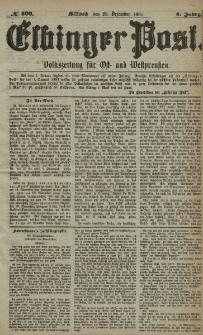 Elbinger Post, Nr. 303, Mittwoch 28 Dezember 1881, 8 Jahrg.