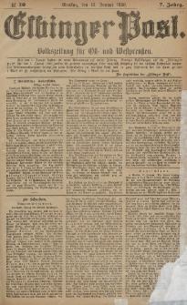 Elbinger Post, Nr. 10, Dienstag 13 Januar 1880, 7 Jahrg.