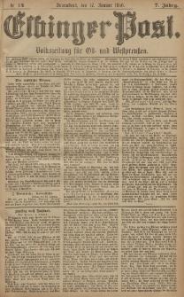 Elbinger Post, Nr. 14, Sonnabend 17 Januar 1880, 7 Jahrg.