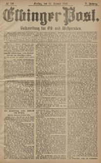 Elbinger Post, Nr. 19, Freitag 23 Januar 1880, 7 Jahrg.