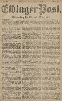 Elbinger Post, Nr. 20, Sonnabend 24 Januar 1880, 7 Jahrg.