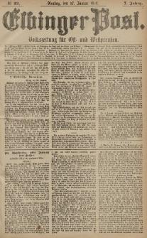 Elbinger Post, Nr. 22, Dienstag 27 Januar 1880, 7 Jahrg.