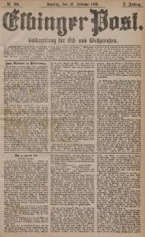 Elbinger Post, Nr. 45, Sonntag 22 Februar 1880, 7 Jahrg.
