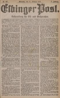 Elbinger Post, Nr. 47, Mittwoch 25 Februar 1880, 7 Jahrg.