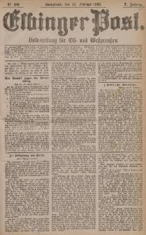 Elbinger Post, Nr. 50, Sonnabend 28 Februar 1880, 7 Jahrg.