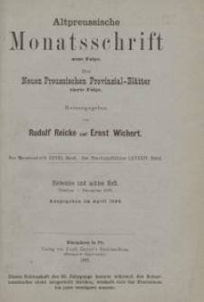 Altpreussische Monatsschrift, 1891, Oktober-Dezember, Bd. 28