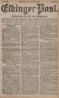 Elbinger Post, Nr. 60, Donnerstag 11 März 1880, 7 Jahrg.