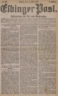 Elbinger Post, Nr. 63, Sonntag 14 März 1880, 7 Jahrg.
