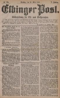 Elbinger Post, Nr. 70, Dienstag 23 März 1880, 7 Jahrg.