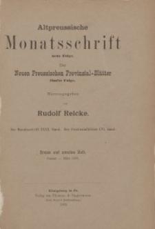 Altpreussische Monatsschrift, 1903, Januar-März, Bd. 40
