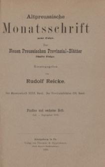 Altpreussische Monatsschrift, 1903, Juli-September, Bd. 40