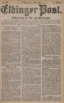 Elbinger Post, Nr. 83, Freitag 9 April 1880, 7 Jahrg.