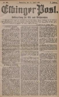Elbinger Post, Nr. 88, Donnerstag 15 April 1880, 7 Jahrg.
