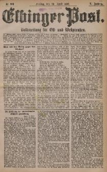 Elbinger Post, Nr. 94, Freitag 23 April 1880, 7 Jahrg.